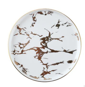 Plate Rome Marble Plate - Venetto DesignWhite / 6 Pieces of 6 Inches