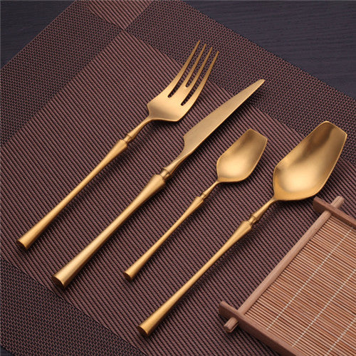 Flatware Venice Cutlery Set - Venetto DesignGold / 48 Pieces Set