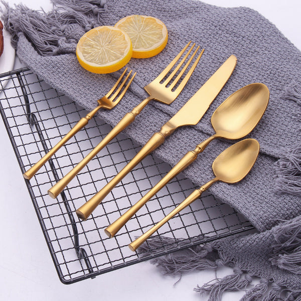 Flatware Serena Cutlery Collection - Venetto DesignGold / 15 Pieces Set