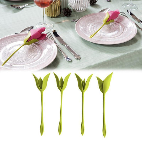 Image of Flower Napkin Holders (4 Pack)