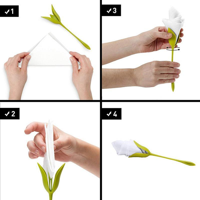 Flower Napkin Holders (4 Pack)
