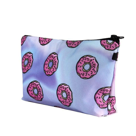 Cute Multicolored Designed Cosmetics Pouches