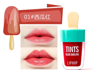 New 1Pcs Lip Ice Cream Long-Lasting Lip Tint 5 Colors Liquid Lipstick Rouge Levres Labial Matte Lip Gloss Sexy Tattoo Cosmetic