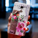 BROEYOUE Case For Xiaomi Redmi 4X 4A 5A Note 4 4X 5A Relief Silicone Cases Cover For Xiaomi Redmi 5 Plus Cell Phone Cases Fundas