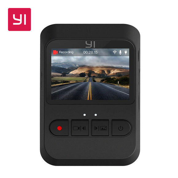 YI Mini Dash Cam 1080p FHD Dashboard Video Recorder Wi-Fi Car Camera with 140 Degree Wide-angle Lens Night Vision G-Sensor