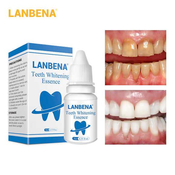 LANBENA Teeth Whitening Essence Product Dental Oral Hygiene Cleaning Powder Serum Removes Plaque Stains Tooth Dental Tools Smile