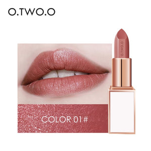 O.TWO.O Semi-velvet Lipstick 24 Color Moisturizing Long Lasting Waterproof for Comfortable lipstick Make Up Cosmetics