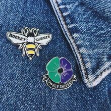 Load image into Gallery viewer, SWEET SHIVERS BEE & FLOWER ENAMEL PIN SET + All ACCESS