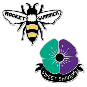 SWEET SHIVERS BEE & FLOWER ENAMEL PIN SET + All ACCESS