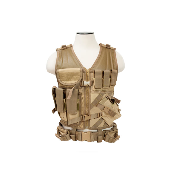 Tactical Vest-Tan M-XL