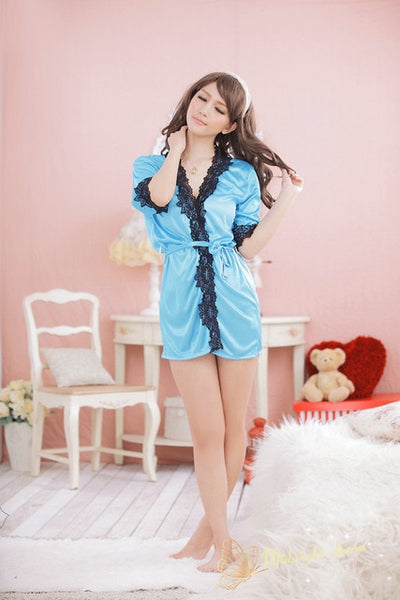 Sexy lingerie women underwear 2016 bow erotic lingerie nuisette lingerie sexy home furnishing pajamas bathrobe L7040