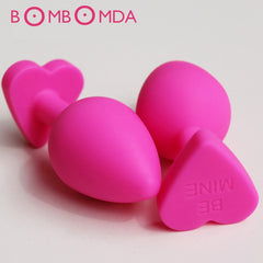 Anal Dildo Sex Toys products Butt Plug Heart-shaped Anal Plug Sex Toy For Couples O3