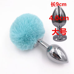 light Blue Rabbit Tail Silicone Anal Plug Novice Sex Game Toys Adult Products for Couples  Sex Toy Bunny Butt Plug