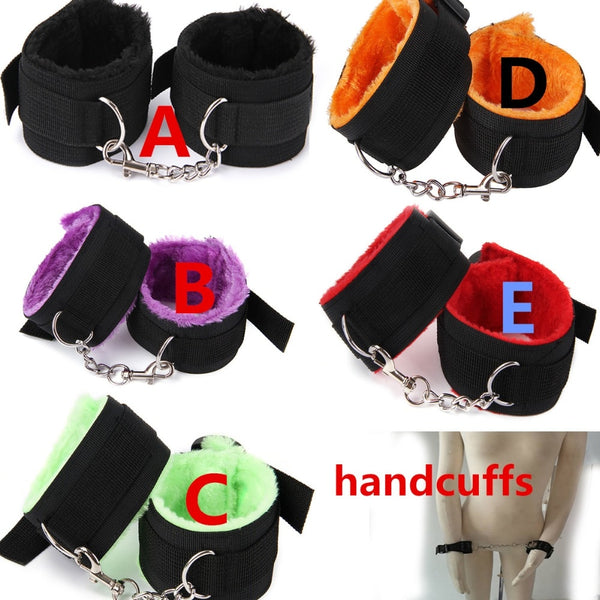 Handcuff+ ankle Ankle Cuff Sex Toys for Couples BDSM Bondage Sex toy set Sm products