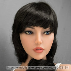 New WMdoll head silicone sex doll oral sex doll head for real adult sex toy for men
