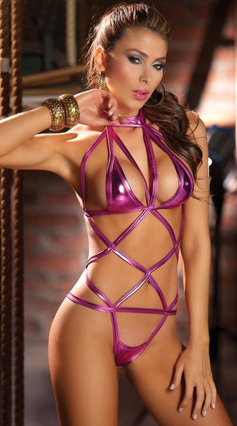 Lingerie Bundled Sexy Rope Hollow Out Women's Lingerie Outfit Sexy Temptation Lingerie Bodysuit Leather Sexy Lingerie Open Crotc