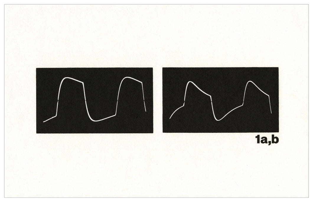 Micah Lexier - The Oscilloscope Drawings (1a,b)