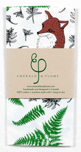 Emerald & Plume Press - Fox Tea Towel