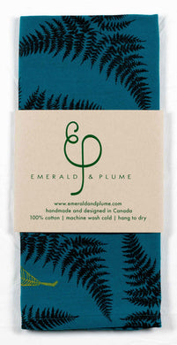 Emerald & Plume Press - Green Ferns Tea Towel