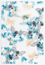 Emerald & Plume Press - White Moth Tea Towel