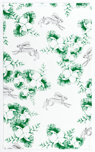 Emerald & Plume Press - Rabbit and Ginko Tea Towel