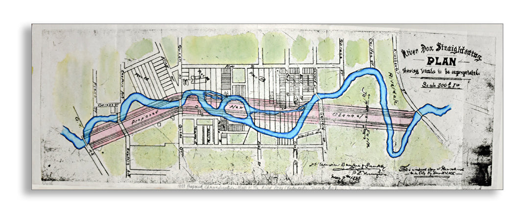Liz Menard - 1888 Pre-Channelization Map of the Don River II (Reduced) Series 725, Toronto Archives