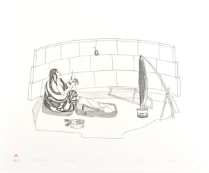 Kananginak Pootoogook - At the Windbreak