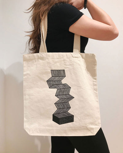 Annyen Lam / Open Studio Tote Bag - Accordian Design