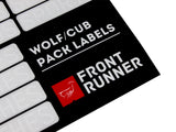 Wolf/Cub Pack Campsite Organizing Labels