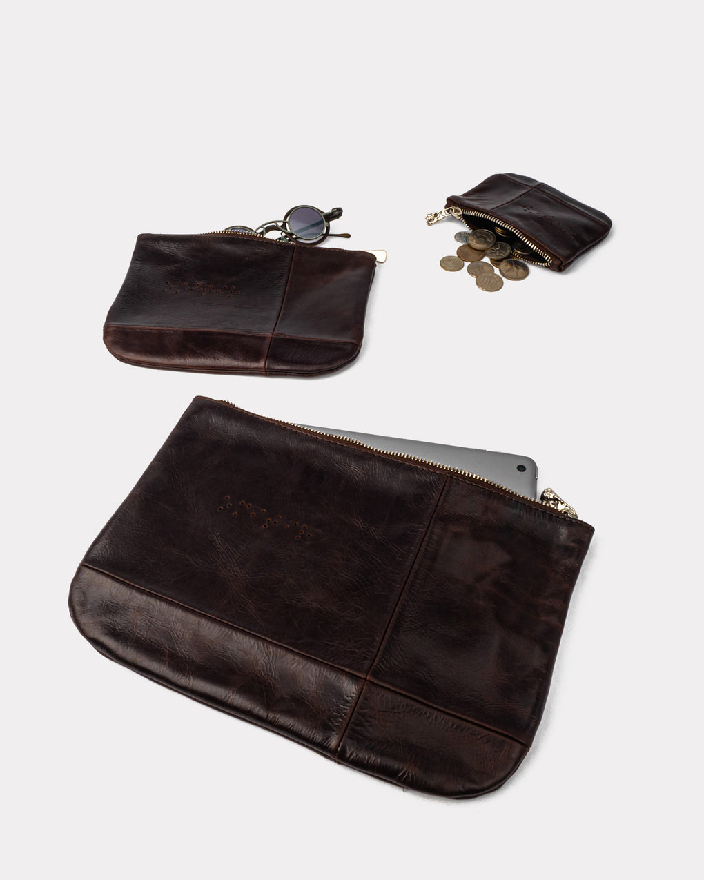 Bauhaus Pouch Large - Burnt Amber