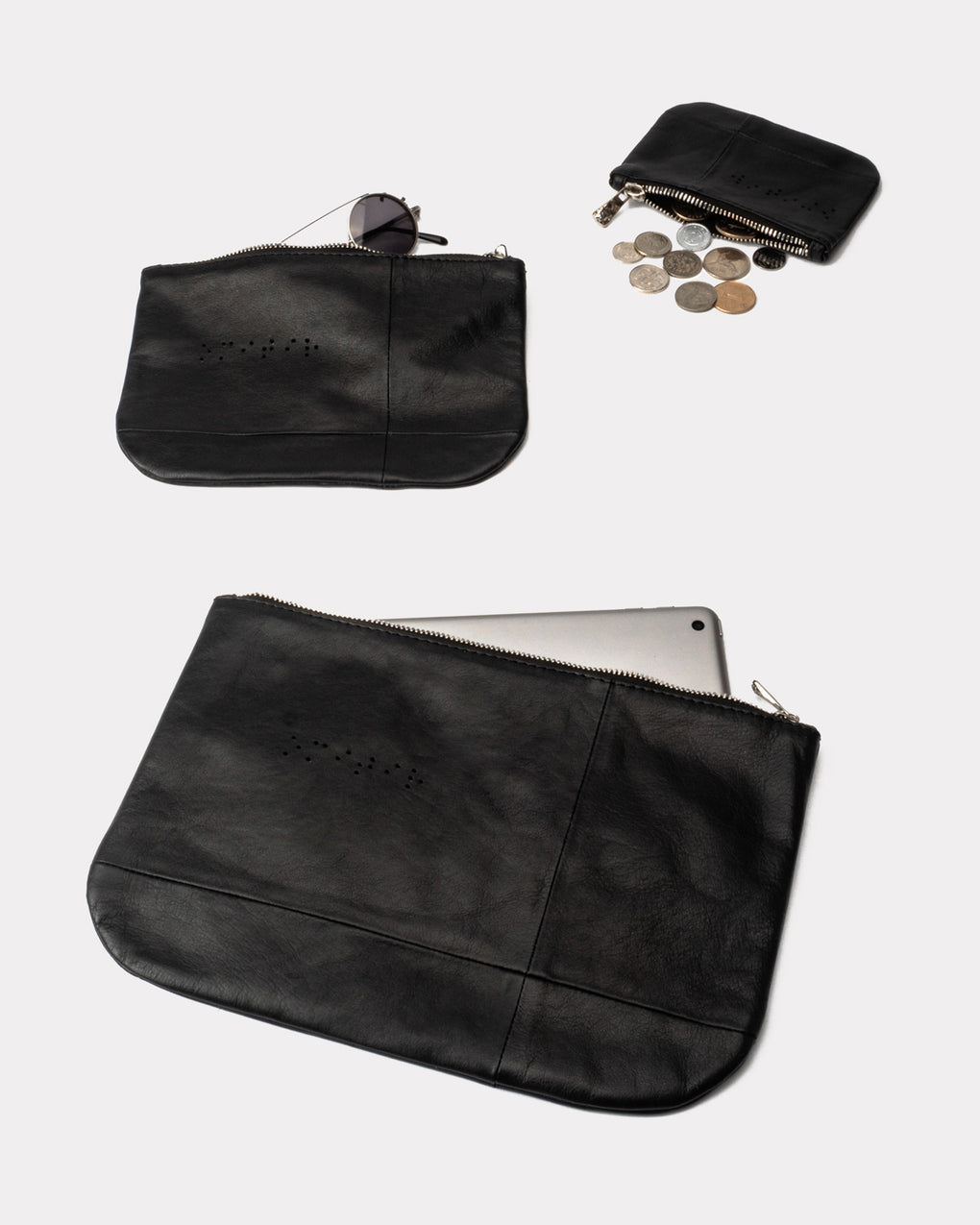 Bauhaus Pouch Large - Black