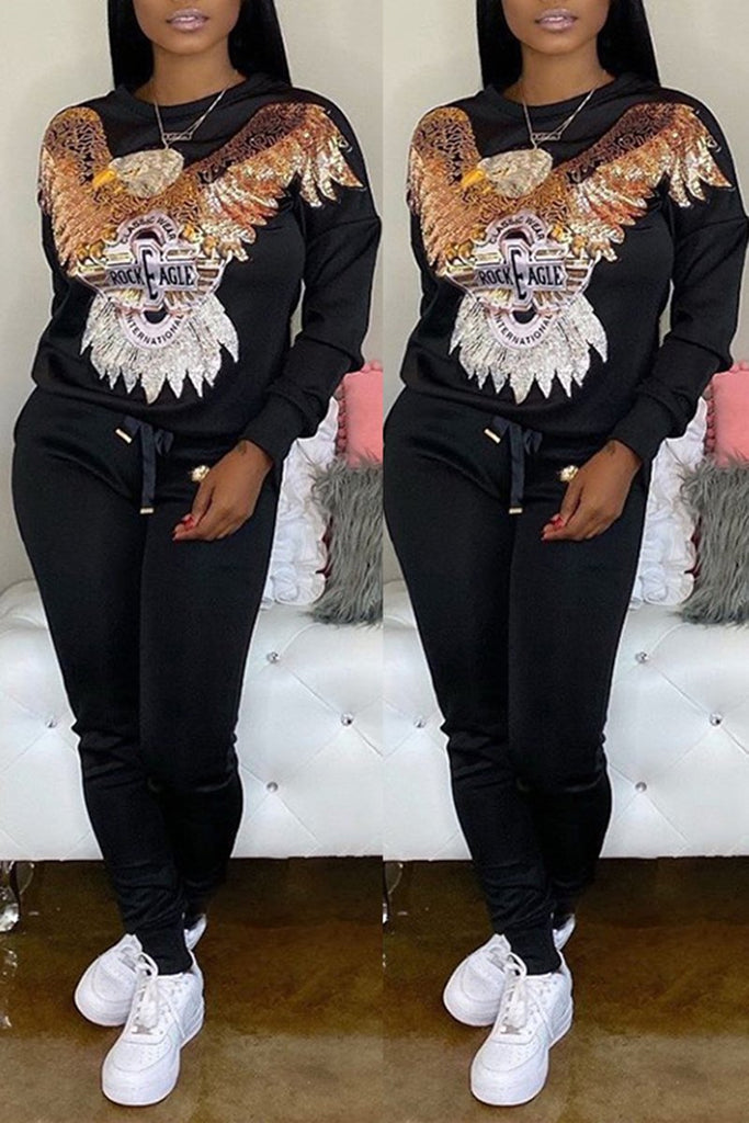 Animal Appliques Solid Color Top & Pants