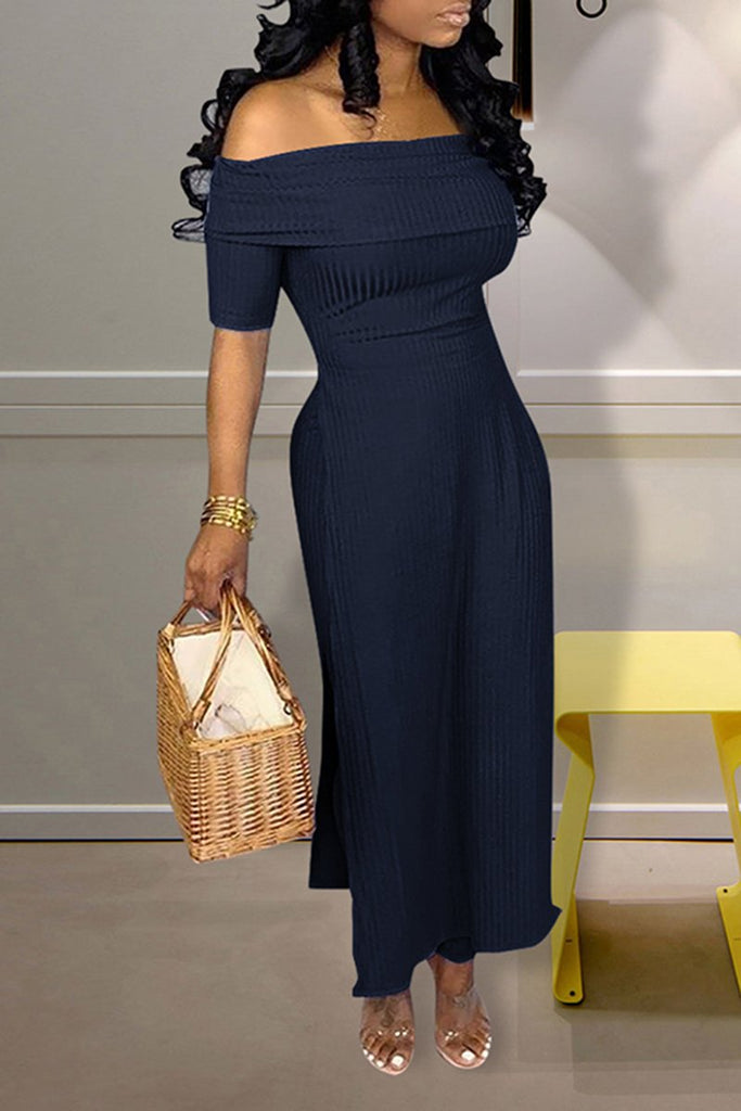 High Slit Off The Shoulder Jumpsuit