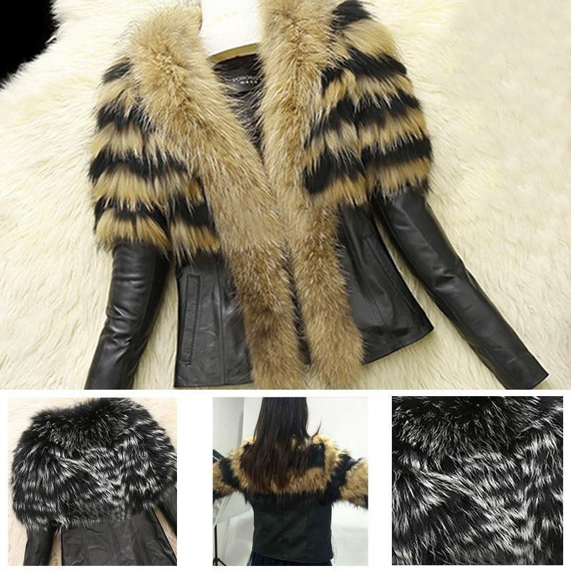 Faux Fur and Leather Jacket - SISTALOOK