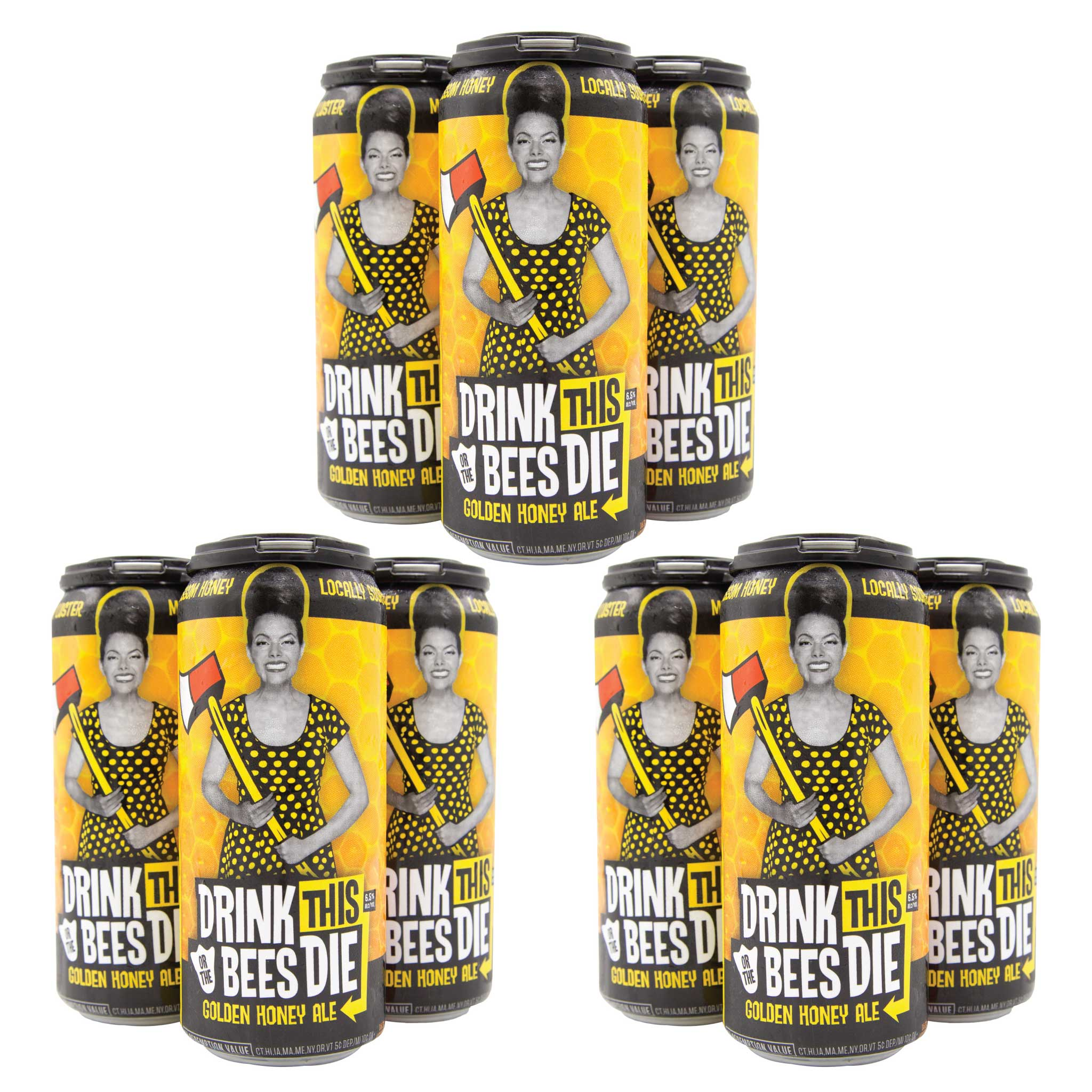 Drink This or the Bees Die (3 x 4 Packs of 16oz Cans) ** CA SHIPPING ONLY