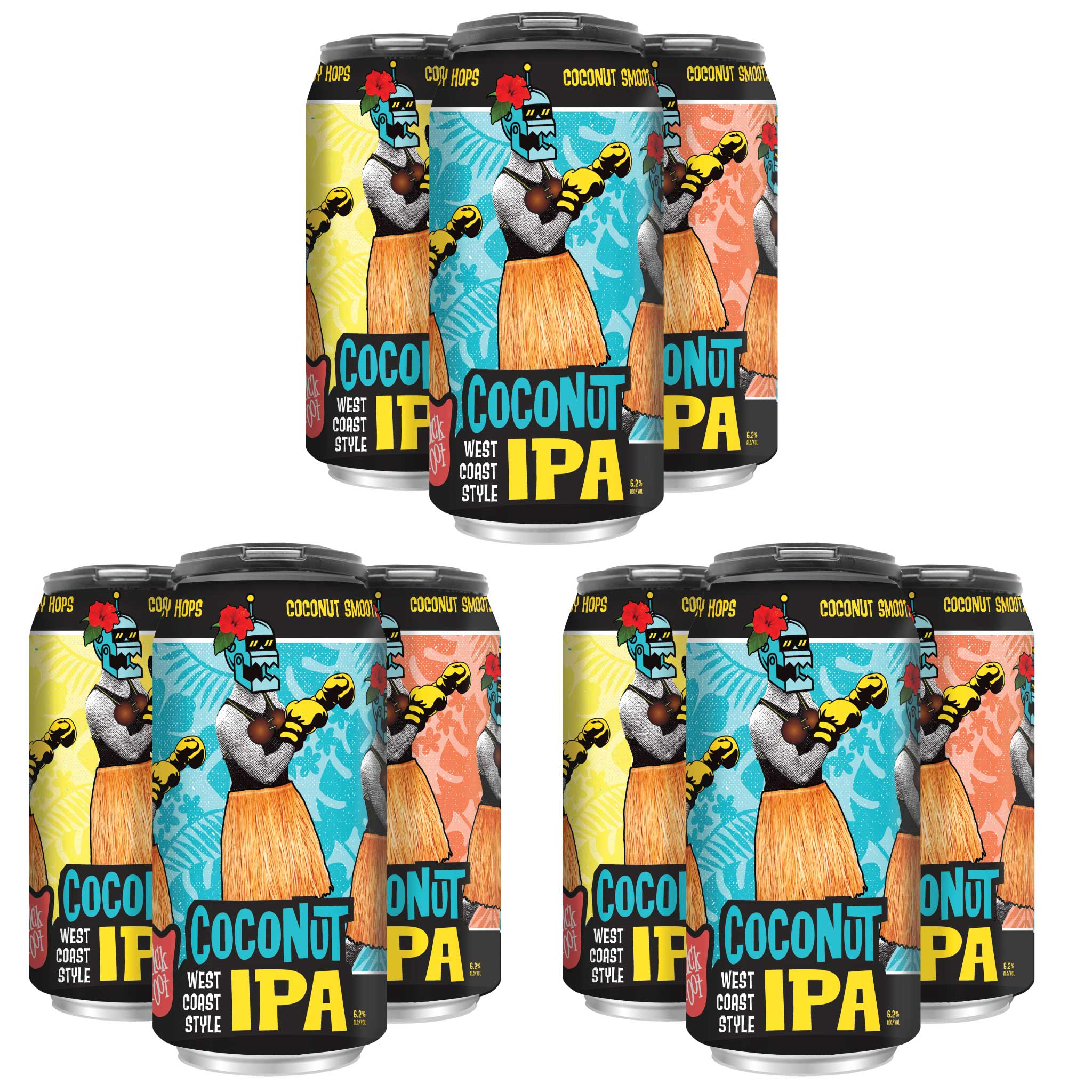 Coconut IPA (3 x 4 Pack of 16oz Cans) ** CA SHIPPING **