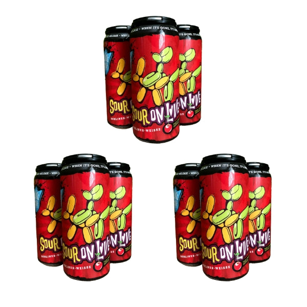 Sour on Love Cherry (3 x 4 Pack of 16oz Cans) ** CA SHIPPING **