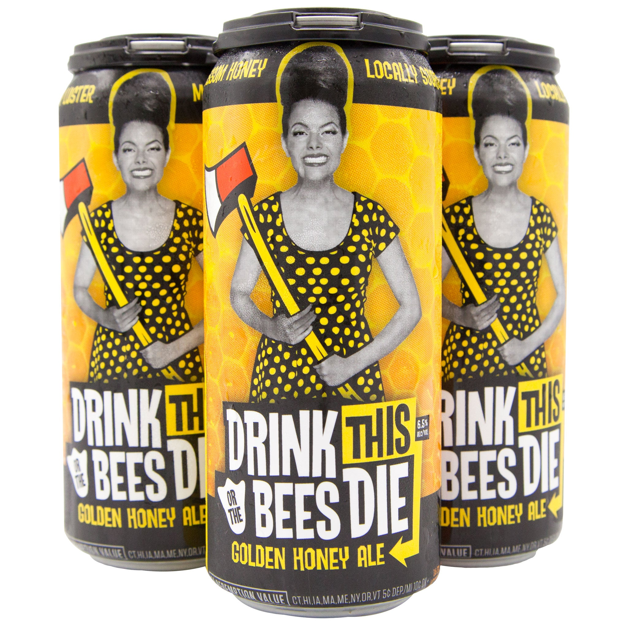 Drink This or the Bees Die CASE (6 x 4 Packs of 16oz Cans) ** CA SHIPPING ONLY
