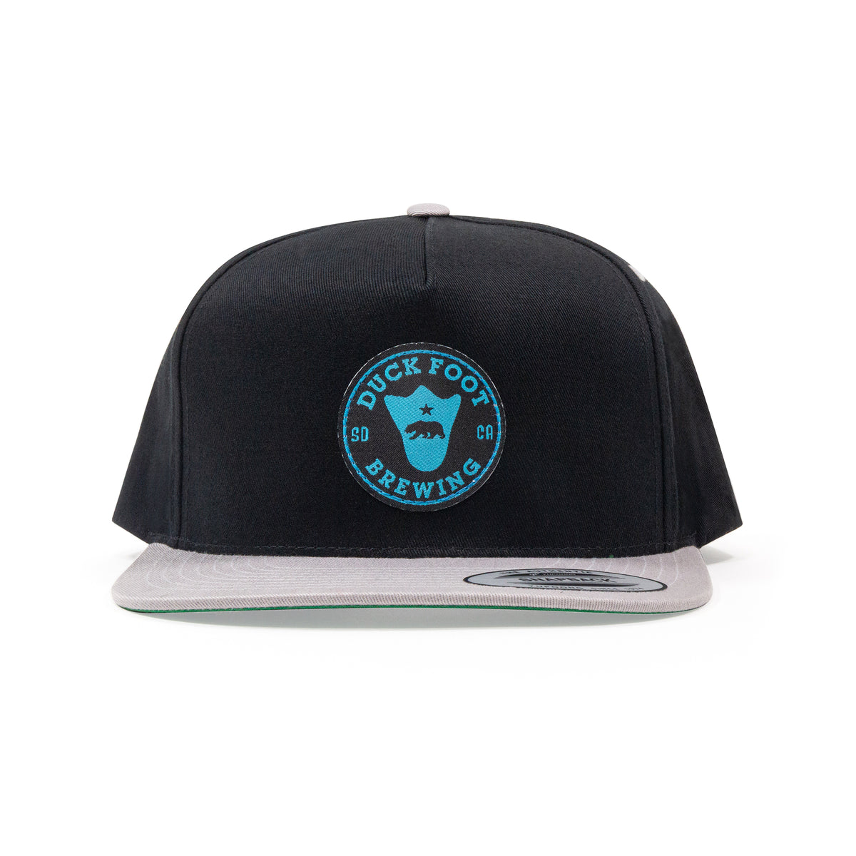 Bear Foot Circle Patch Hat (Black and Grey)
