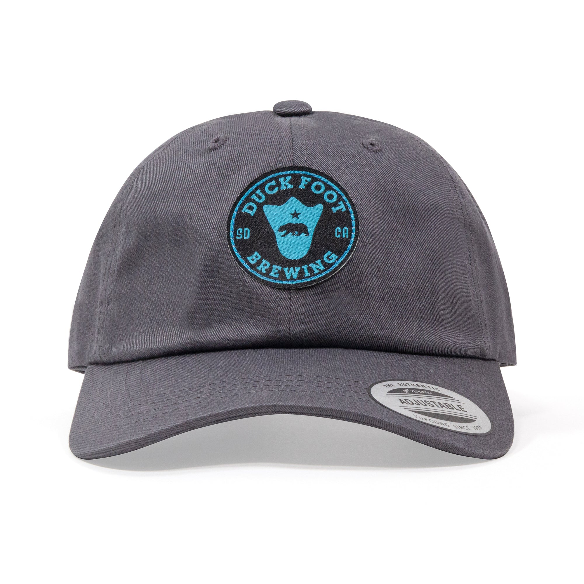Bear Foot Circle Dad Hat (Charcoal Grey)