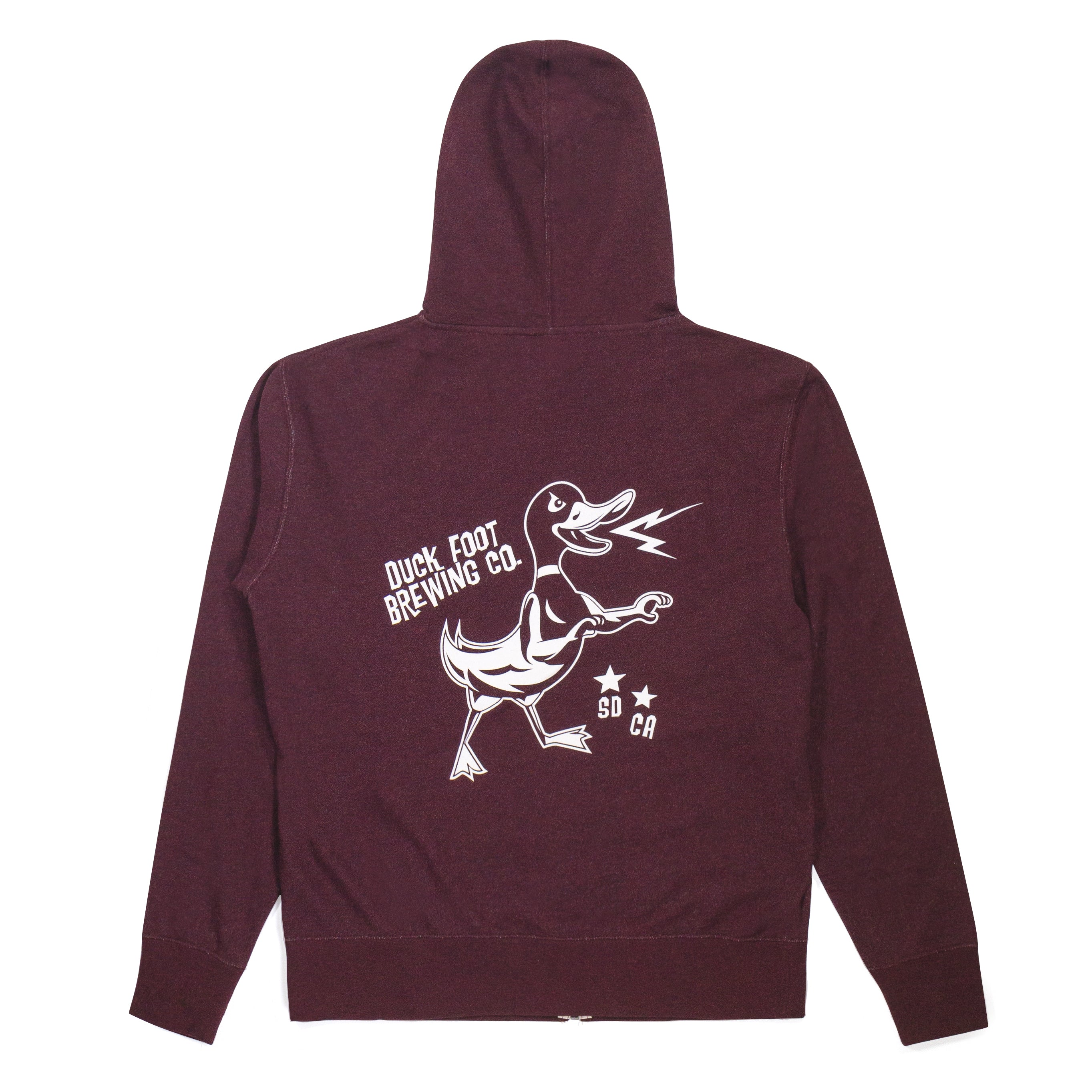 Electric Duck Hooded Sweatshirt (Maroon Heather)