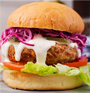 Mediterranean Chicken Burger -