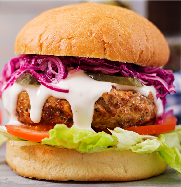 Mediterranean Chicken Burger