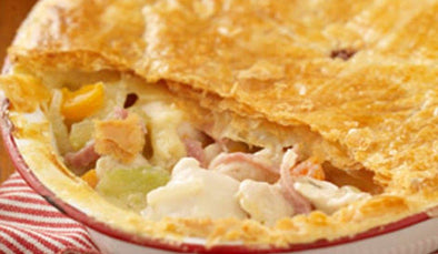 Baked Ham Hash Brown Pie -