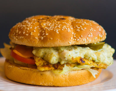 Chicken Poblano Burger -