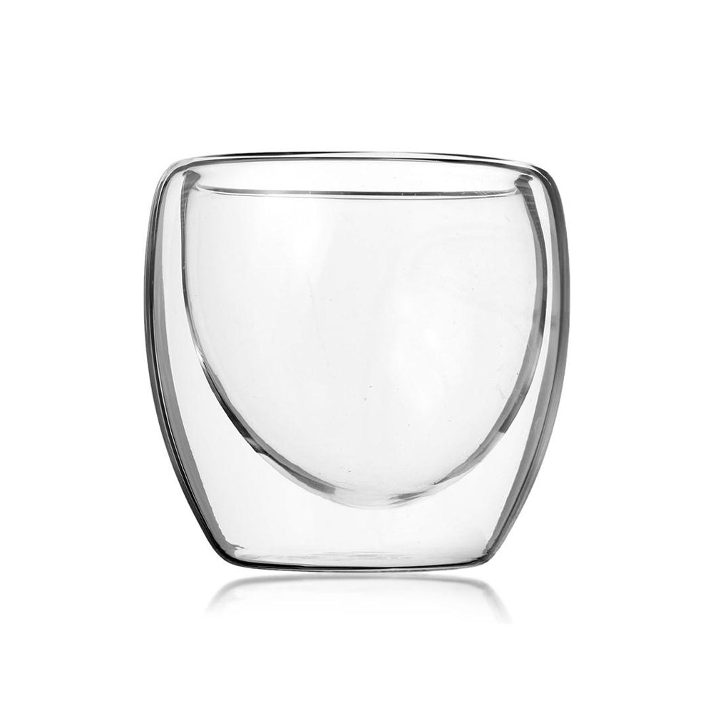 Double Wall Glass Clear Handmade Heat Resistant Mini 80ml