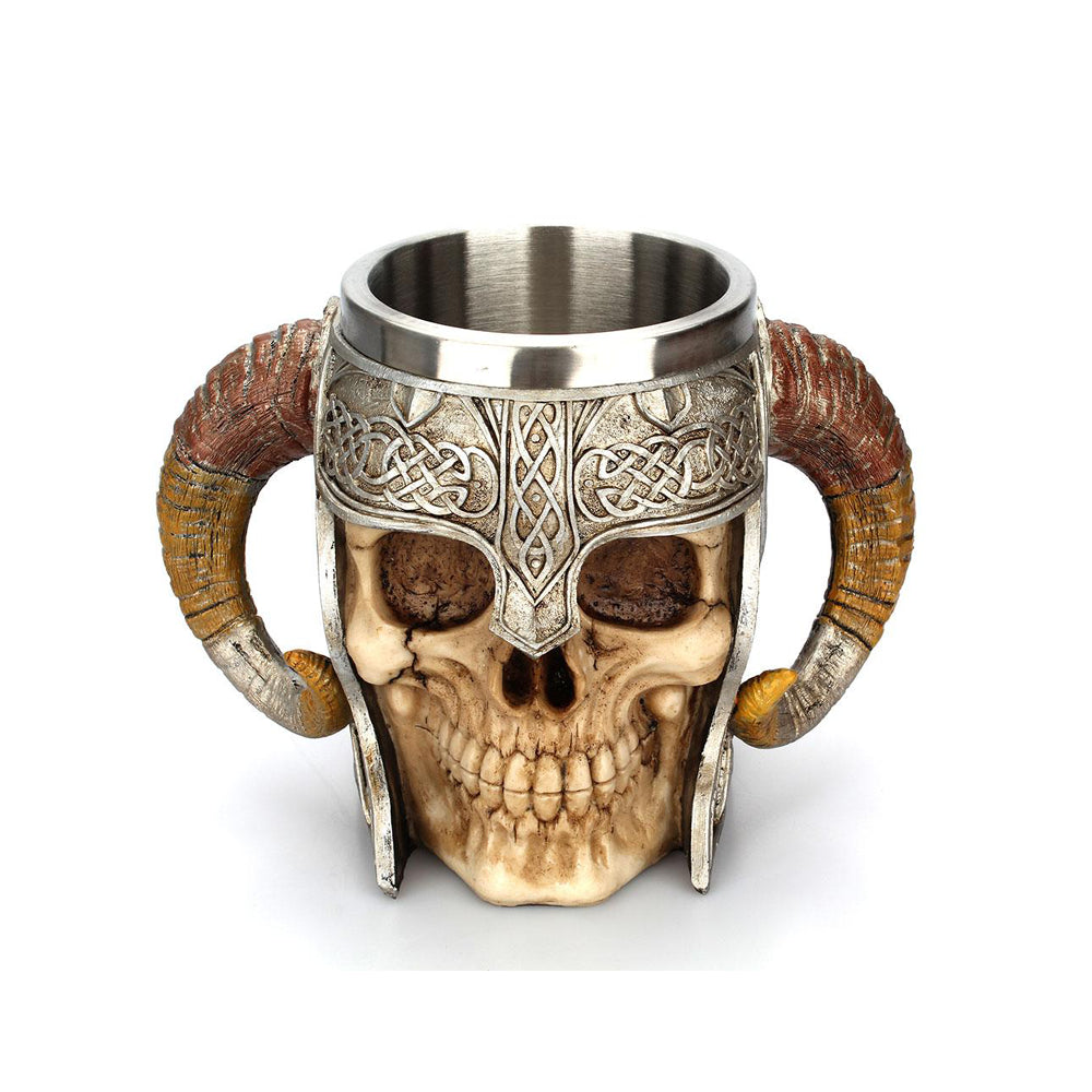 Viking Creative Stainless Steel Skull Mug