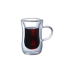 Elegant Double Wall Glass Cup  Handle For Coffee, Latte, and Espresso