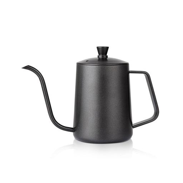 Black Stainless Steel Coffee Pots with Long Mouth 600ml