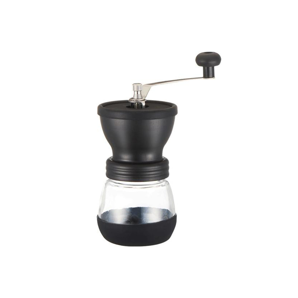 Manual Ceramic Coffee Bean Grinder with Fortified Glass Storage Jar